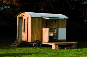 Shepherd's hut accessories, decks, poles and support boxes